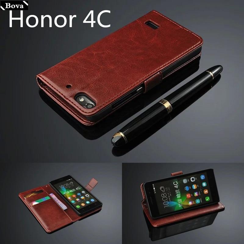 Τιμητική θήκη κάλυψης κάρτας 4C για θήκη από δέρμα Huawei Honor 4C εξαιρετικά λεπτό κάλυμμα πορτοφολιών πορτοφολιών