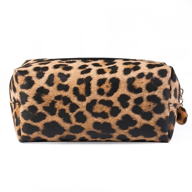 08e8159bff4 2019 New Cosmetic Bag Leopard Makeup Bag Multi-Function Portable Makeup  pouch Travel Organizer Zipper Make Up Bag Organizer