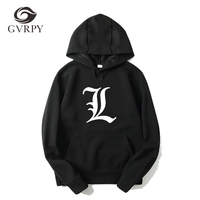 2018 New Autumn Winter Men Hoody Sweatshirts Hip Hop Fashion Death Note Hoodies Women Harajuku Hombre