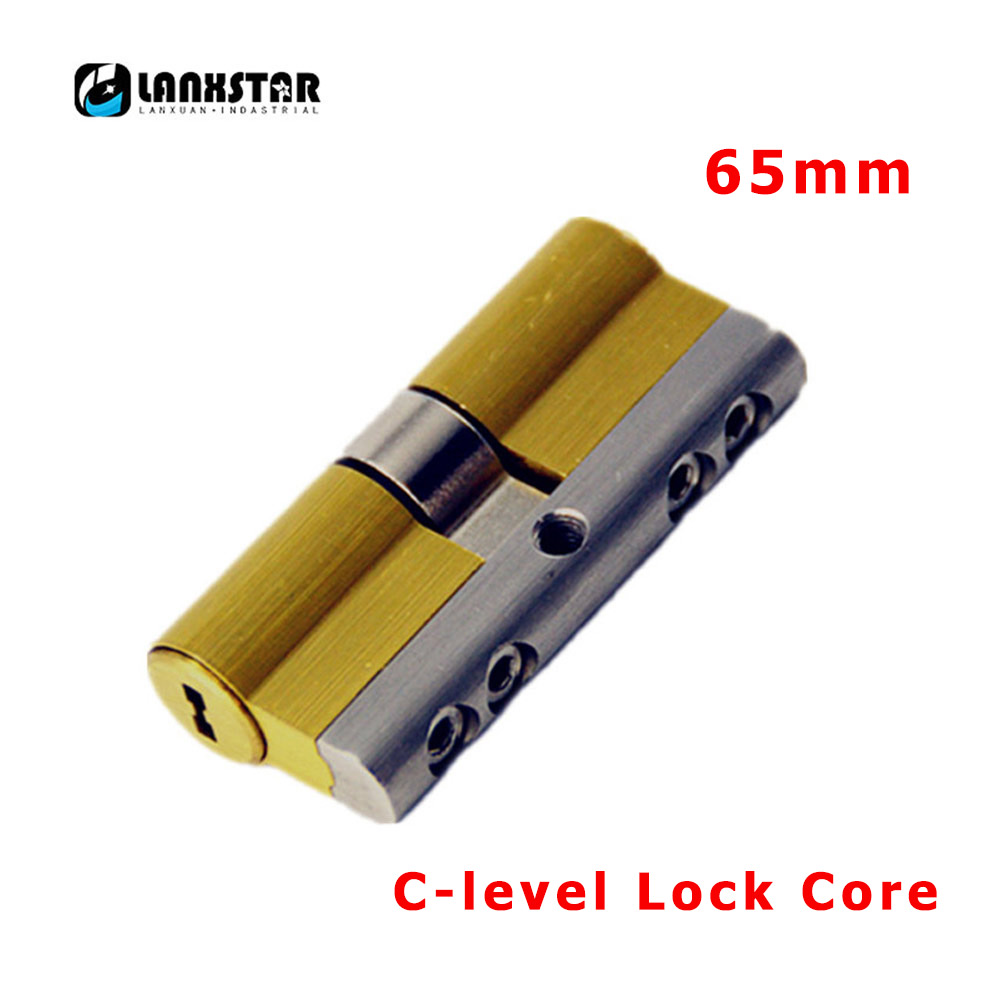 LANXSTAR C Grade Copper Lock Core 8Keys Anti-theft Lock Cylinder Security Lock-Cylinders 65mm C-level Lock-Cores door locks security lock cylinders more than 70mm 80mm for 35 50mm thickness door lock for home copper core lock cylinders