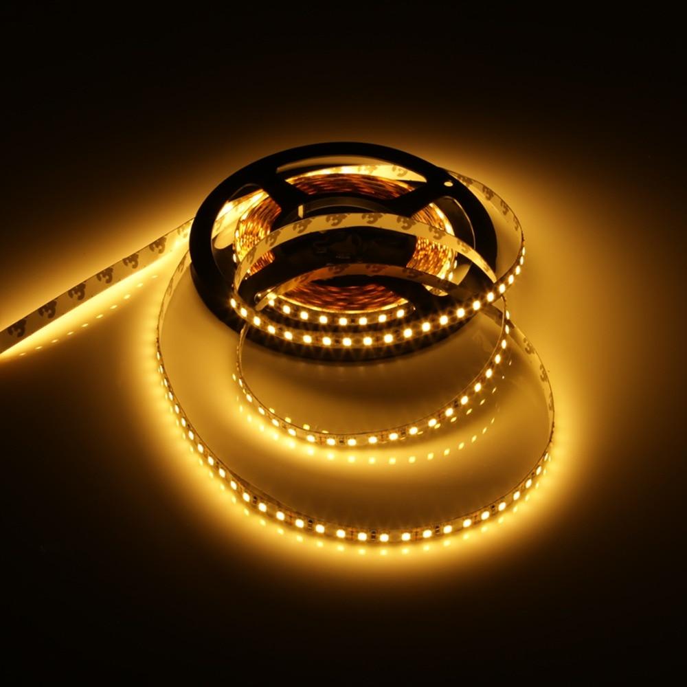 LED sloksne 5M elastīga gaisma 2835 600Leds Super spilgti josla ūdensnecaurlaidīga lente 12V silta, balta / balta neona svītru lampa