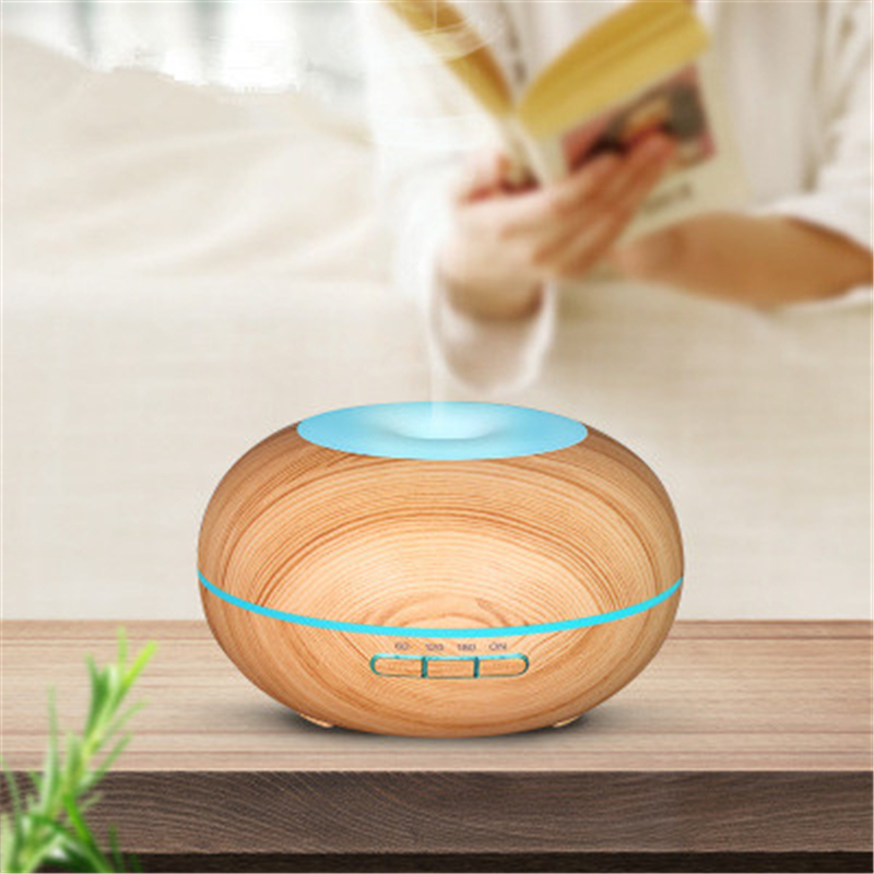 MRF-142 300ml Creative wood grain aromatherapy machine household mute bedroom mini ultrasonic air essential oil humidifier humidifier home mute high capacity bedroom office air conditioning air purify aromatherapy machine