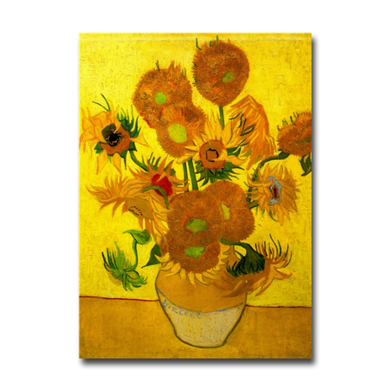 Bargain Price Van Gogh Fifteen Sunflower Series Art Painting Fridge Magnet Home Decoration Magnetic Stickers Favorite