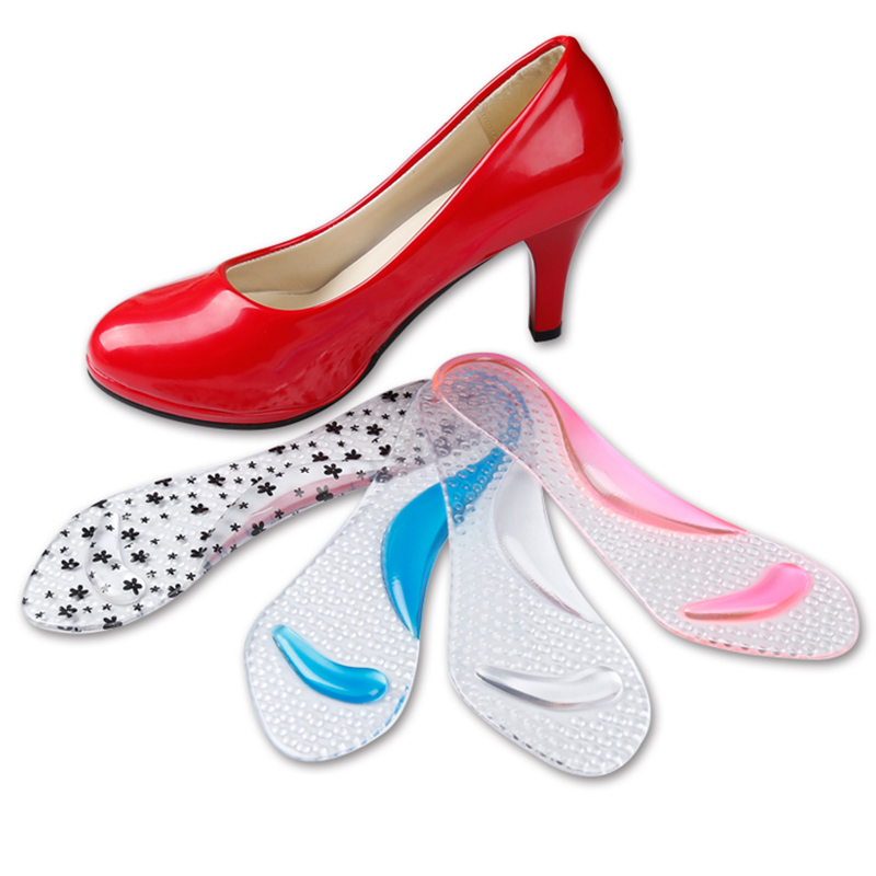 Fashion Women Insoles Silicone Cotton Transparent Orthotic Arch Support Pad High Heeled  ...