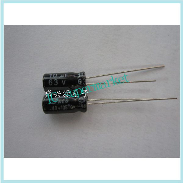 <font><b>63</b></font> v10uf 10 uf63v authentic aluminum electrolytic capacitor 5 * 11 <font><b>1000</b></font> 28 image