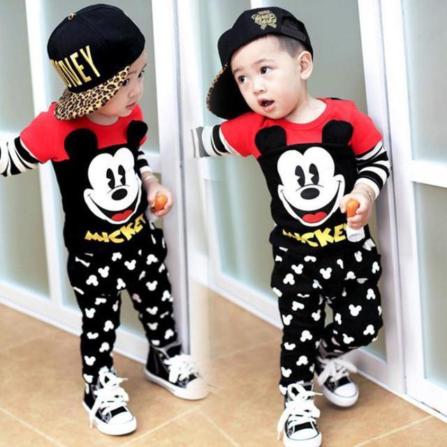 6a0e24df2a Conjunto de ropa de bebé mickey de moda para niñas