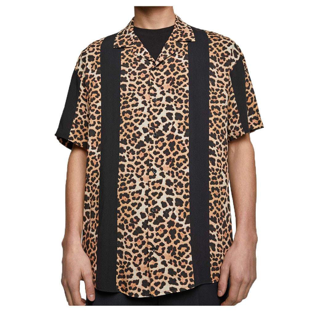 Explosive Shirt! Men Summer Fashion Shirts Casual Leopard Shirts Short-Sleeve Top Blouse Are You Sure Not To Buy? Purchasing