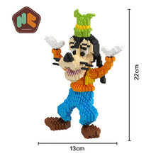 HC 9050 1460Pcs Anime Series Goofy Dog Cartoon DIY Magic Blocks Diamonds Building Block Toys Children Gifts