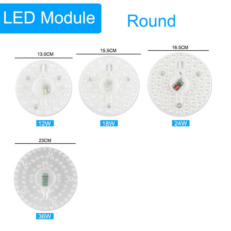 Ceiling Lamp Indoor Led Ceiling Light Source Replace 12W 18W 24W 36W AC220V 240V Remould long life Led High Brightness Lighting