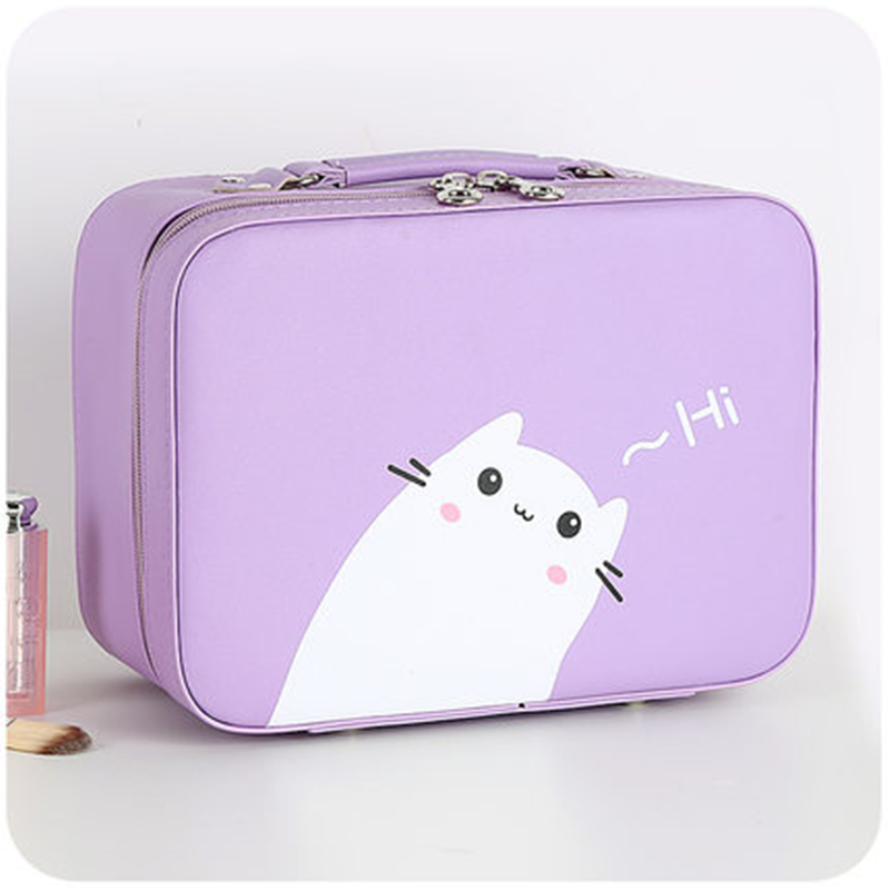 Woman PU Leather Makeup bag Cosmetic Case Travel Toiletry Kit Organizer Case Toiletry make up Cases Portable Cosmetics Pouch Bag msq make up bag pink and portable cosmetic bags for professional makeup artist toiletry case new arrival