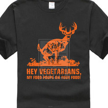 9bd7ad91 Raw T Shirt'S Hey Vegetarians My Food Poops On Your Food Deer Hunt Premium  Men'Sfunny Casual Brand Shirts Topprinted T Shirts