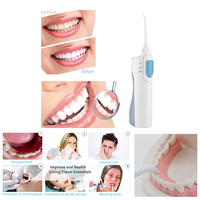 Portable Dental Flosser Oral Hygiene Irrigator Power Water Jet Teeth Cleaner For Tooth Cleaning Care Interdental Brush
