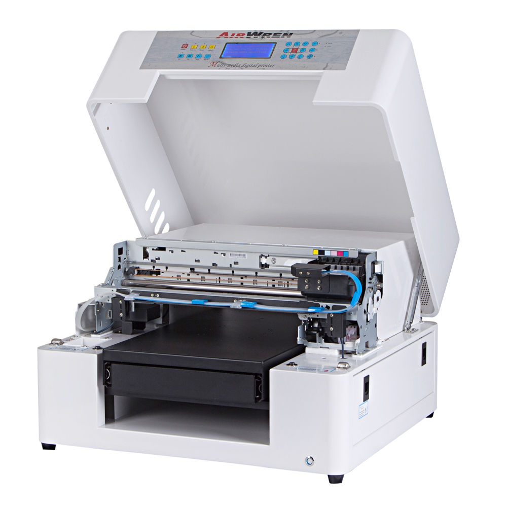 2016 new design Eco Solvent Printer With 1390 print head guitar pick inkjet flatbed printing machine image