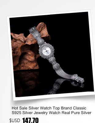 dos homens pulseira de prata real prata