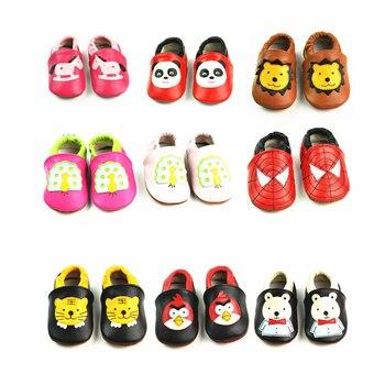 Kreskówki dla dzieci buty prawdziwej skóry dziewczynek chłopców miękkie buty buciki miękkie dno Bebe noworodka dziecięce mokasyny