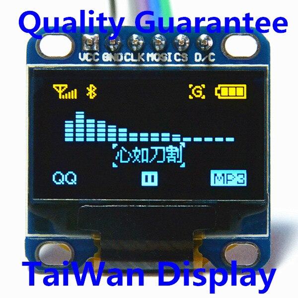 htds-ds96 Intelligente Elektronik Heimautomatisierungs-sets Ernst Hohe Qualität 0,96 Zoll Spi Oled Modul Gelb-blau 12864/3,3 V-5 V Für Arduino 51 Msp420 Stim32 Scr