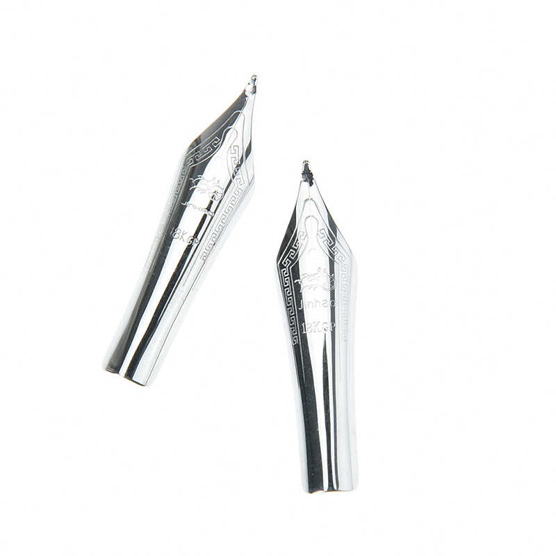 1pc DIY 750 159 Metal Standard Fountain Pen Nib Silver Curved Tip For Jinhao 1.0mm hot sale