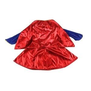 Image 5 - 키즈 어린이 소녀 의상 멋진 드레스 슈퍼 히어로 supergirl 만화책 파티 복장