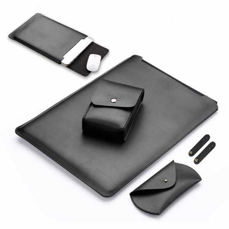 Wodoodporny notes sleeve 11.6 12 13.3 15 15.4 calowy skórzany pokrowiec na laptopa pokrowiec na macbook air pro 11 12 13 15 case SY001