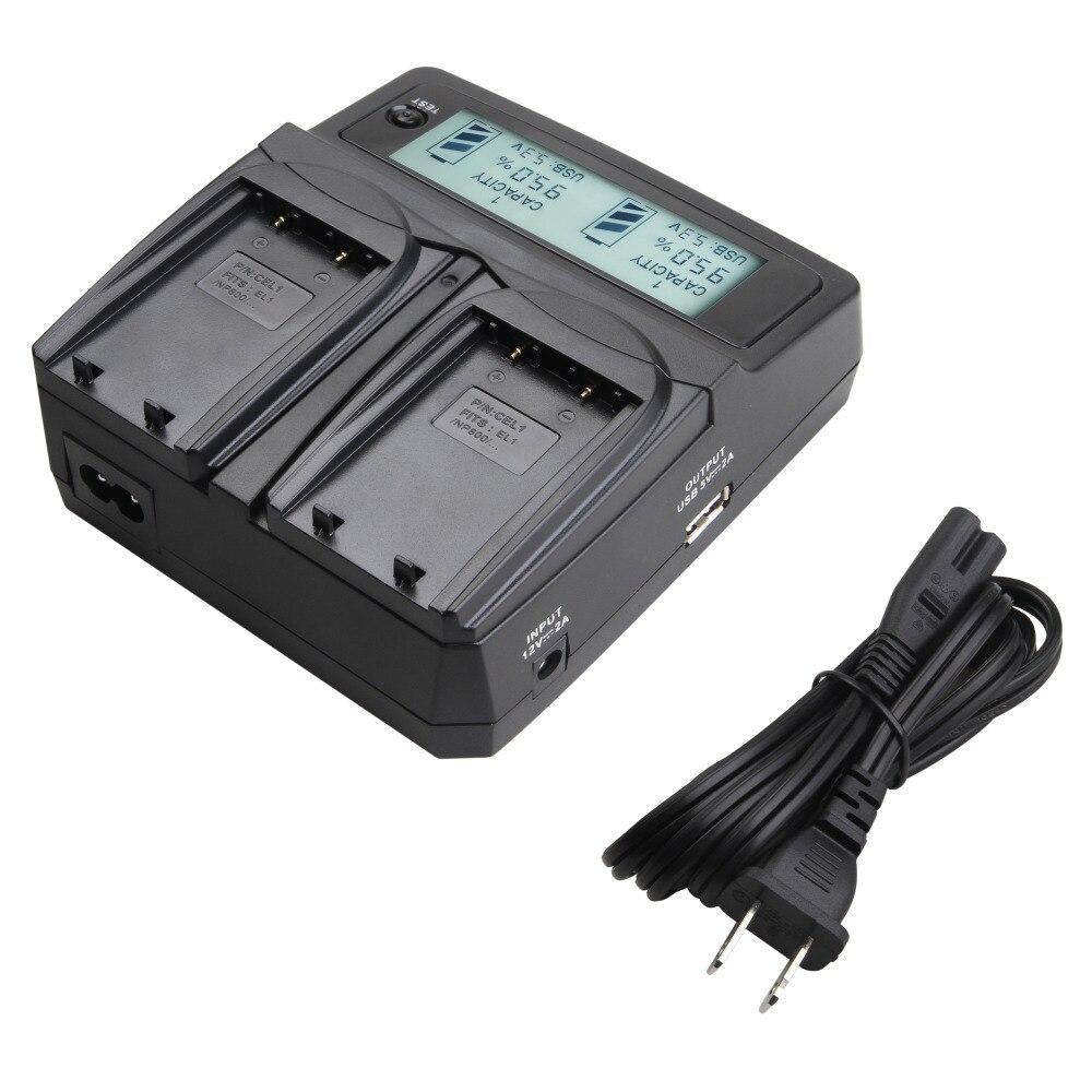 Udoli EN EL1 EN-EL1 ENEL1 Batterie Double Chargeur avec Adaptateur De Voiture Écran lcd pour Nikon Coolpix 4300 4500 4800 5000 5400 5700 775