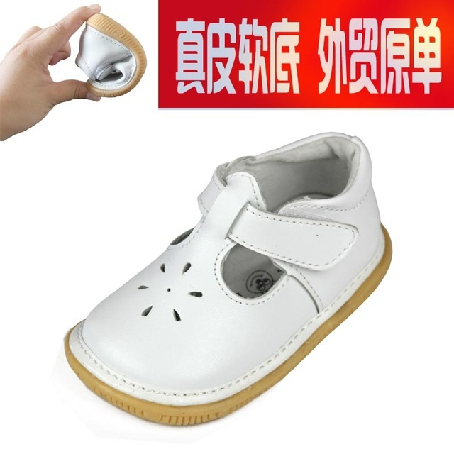 Free Shipping Genuine Leather Baby Soft Outsole Infant Shoes Baby Didi First Walkers Toddlers Kids Girls Enfant Shoes