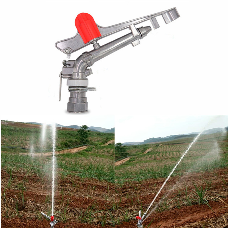 1 5 DN40 Gear Drive Alloy Sprinklers Spray Gun Large Area Agricultural Field Irrigation Watering Gun