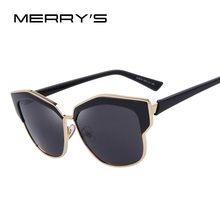 MERRY'S Women Cat Eye Sunglasses Luxury Geometry Half Frame Glasses Alloys Frame Sunglasses S'8252