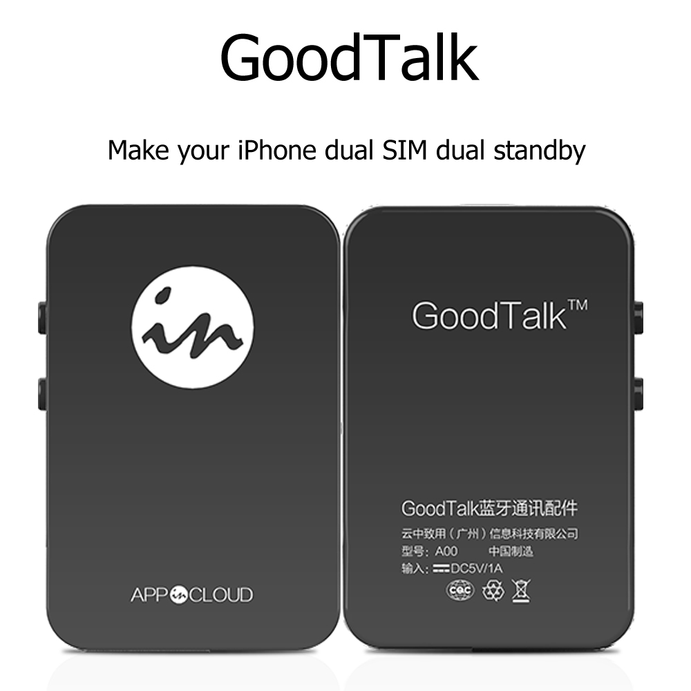 ab1bb68cf7e1b 2016 No Jailbreak Mini Dual SIM Card Adapter via Bluetooth Goodtalk support  IOS 7 10 Long Standby Battery for iOS Device-in Signal Boosters from  Cellphones ...