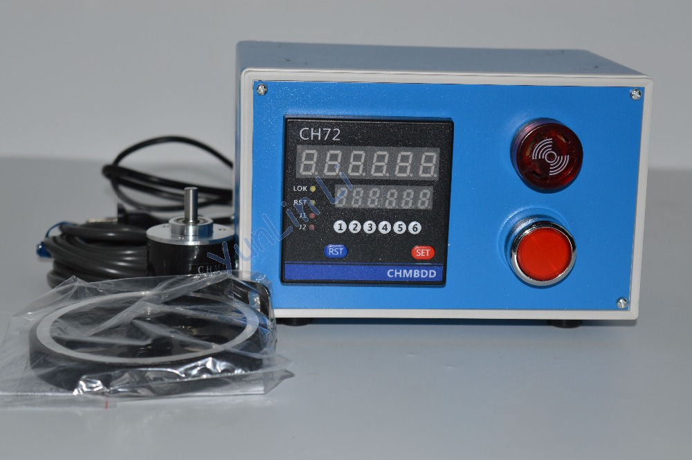 Compteur électronique numérique compteur Intelligent longueur Instrument de mesure rouleau Type encodeur avec alarme CH72