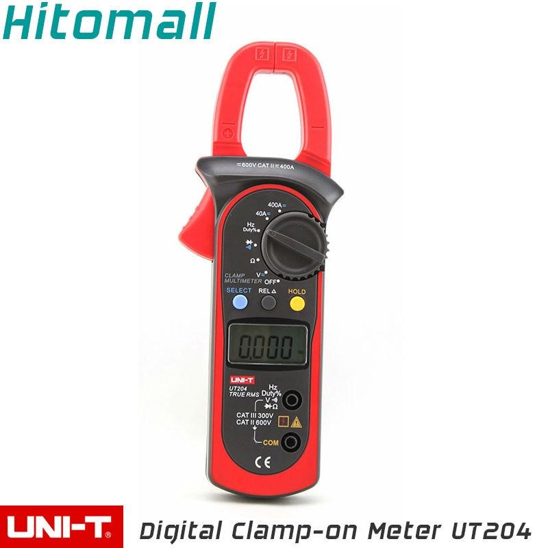 True RMS UNI-T Digital Clamp Multimeters Auto Range  4000 Counts 400A 600V Clamp Meter Unit Ammeter Voltmeter UT204  uni t ut209a true rms professional auto manual range 4000 counts 1000a digital clamp multimeters