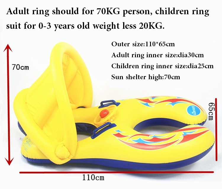 12 36 Month Inflatable Baby Swimming Ring Swim Float Seat Mother And Child Circle To Pool In Accessories From Kids