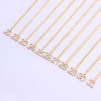 My Number Copper Necklace Pendant Gold Jewelry 21-31Lucky Number