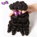 Wholesale 7a Grade Brazilian Virgin Aunty Fummi Bouncy Tip Curls Romance Curl Human Hair 3/4/5pcs Loose wavy Hair Free Shipping