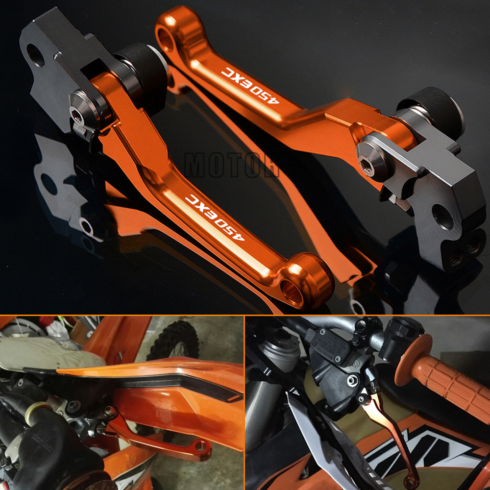 Motocross Dirt Bike Pivot Pit CNC Brake Clutch Lever Handle For KTM 450EXC 450 EXC 2007 2013 2008 2009 2010 2012 2013 in Levers Ropes Cables from Automobiles Motorcycles
