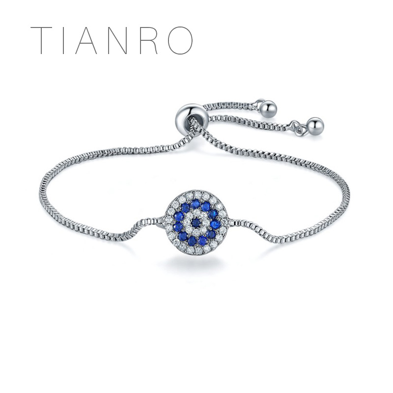 Candid Tianro Europe And The United States Hot New Uniform Code Jewelry Round Crystal Simple Pull Bracelet Elegant In Smell Bracelets & Bangles Chain & Link Bracelets