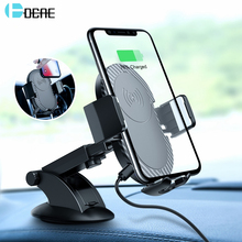 DCAE Автомобиль Air Vent Qi Беспроводной Зарядное устройство для iPhone XS Max XR X 8 плюс samsung S9 S8 S7 S6 Беспроводной зарядки Автомобильный держатель телефона
