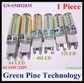 Envío libre 1 unidades de Silicona G9 3 W 5 W 7 W 9 W SMD 2835 LLEVÓ la lámpara Del Maíz Droplight Chandelier vela bombilla de luz Colgante de iluminación