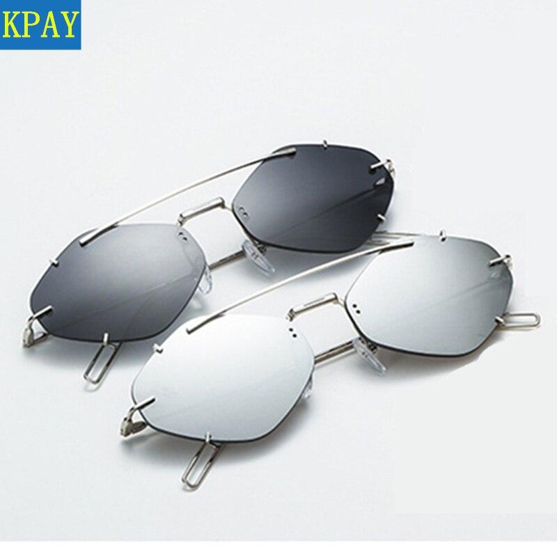 Cat Polygonal Sunglasses Square Women Glasses Lady Luxury Retro Metal Sun Glasses Vintage Mirror Oculos De Sol Feminino UV400 in Women 39 s Sunglasses from Apparel Accessories