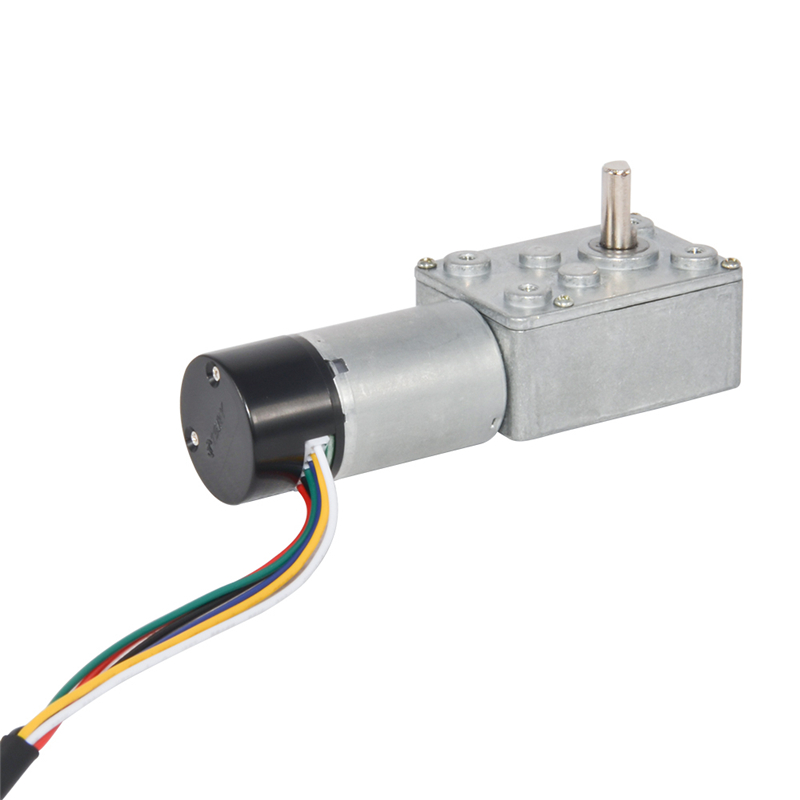 370H DC Worm Gear Motor 12V With Self-Lock Hall Encoder 3/9/15/24/45/64/110/175Rpm Speed High Torque Gear Motor With Dust Cover370H DC Worm Gear Motor 12V With Self-Lock Hall Encoder 3/9/15/24/45/64/110/175Rpm Speed High Torque Gear Motor With Dust Cover