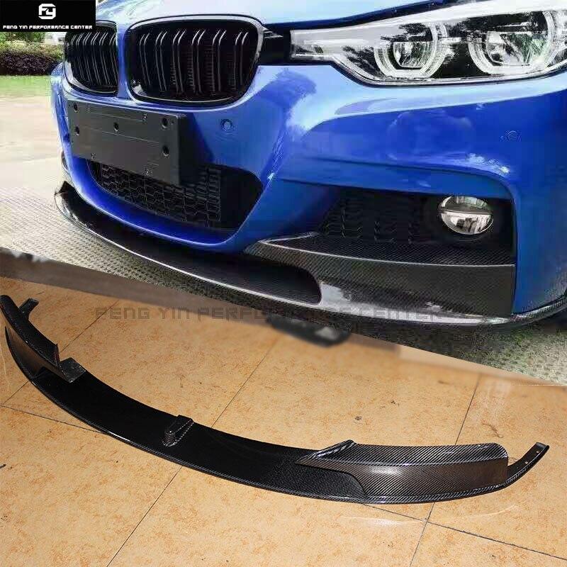 F30 3 série 325i MP style Fiber de carbone Auto voiture pare-chocs avant lèvre pour BMW F30 320i 330i M-TECH pare-chocs 13-18