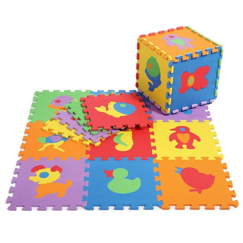 Foam mat/Rugs 30*30cm Cartoon Animal pattern stitching carpet childrens/Kids puzzle eva baby toddler Game Crawling mat/Carpets