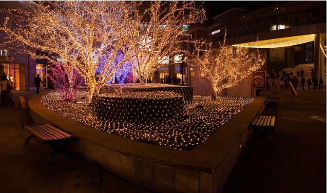 220 V Çok Renkli 200 LEDs 2 M * 3 cm LED Net Dize Noel Cristmas - Şenlikli Aydınlatma - Fotoğraf 4