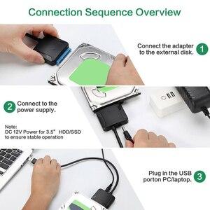 Image 5 - NUOVO USB 3.0 SATA 3 Cavo Sata a USB Adapter Fino a 6 Gbps Supporto 2.5 pollici Esterno SSD HDD hard Drive 22 Spille Sata III Cavo