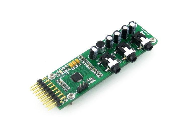 UDA1380 Board Stereo MD CD Mp3 Audio Voice Module Coder Decoder Development Module Kit voice module recognition module development board voice interactive module robot man machine intercom