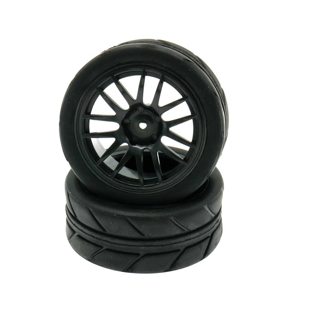 RCAWD Velg Band/tire Set 4 stks/set 10 14 Spoke 1:10 On Road 63mm Speelgoed Model Auto c20609 C20630 Tire Set Model Onderdelen