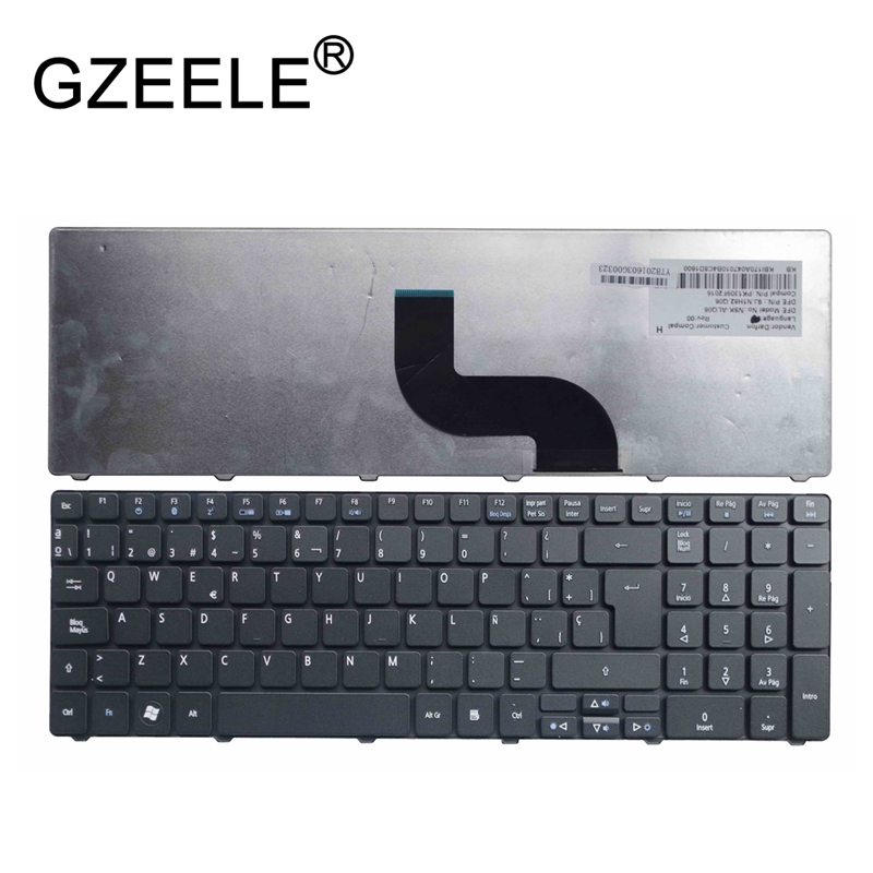 GZEELE new Keyboard for <font><b>Acer</b></font> <font><b>aspire</b></font> 7750 5251 5252 5253 5349 5551 5551G 5553 5553G 7750G 8942 Teclado Spanish SP Laptop QWERTY image