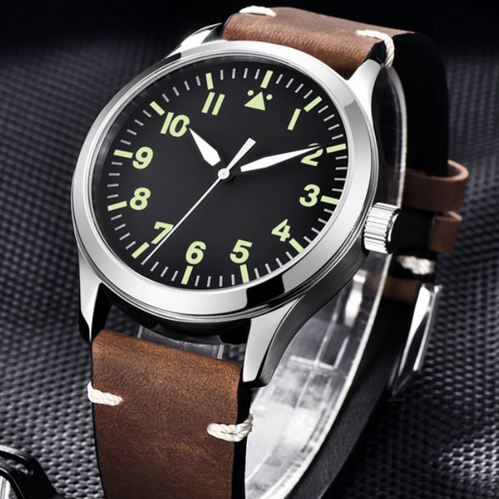 42mm Corgeut Sterile dial watch Sapphire Glass Military Men Automatic Luxury Brand Sport Design Automatic mechanical