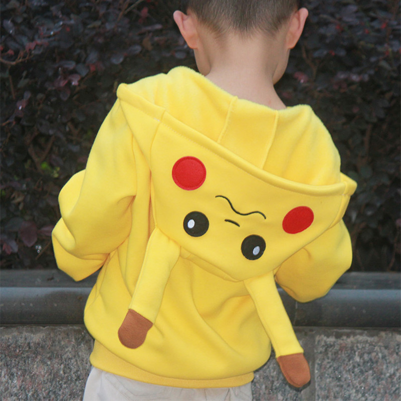 Pikachu Pokemon Go Boys Girls Coats Cotton Cartoon Hoodies Jacket For Kids Children Clothing For 3-10 Years Old Kids Jackets