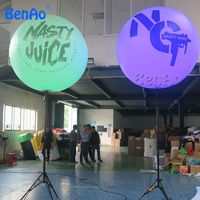 AO236 Party Inflatable Giant Balloon Tripod Ball Outdoor Christmas Lighted Balls Inflatable Ball With Led Light