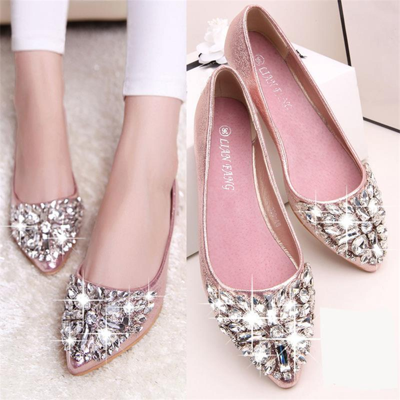 be9d00d2b314 women casual Crystal Fashion women shoes solid patent PU shoes women flats  2016 summer style ballet princess shoes-in Women s Flats from Shoes on ...